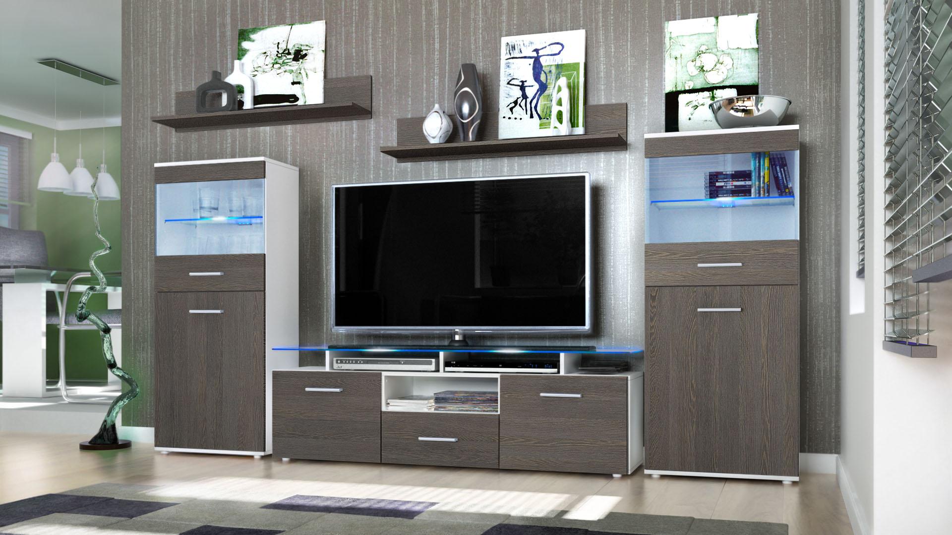 wall unit living room furniture almada white high gloss Contemporary Modular Wall Units wall unit living room furniture