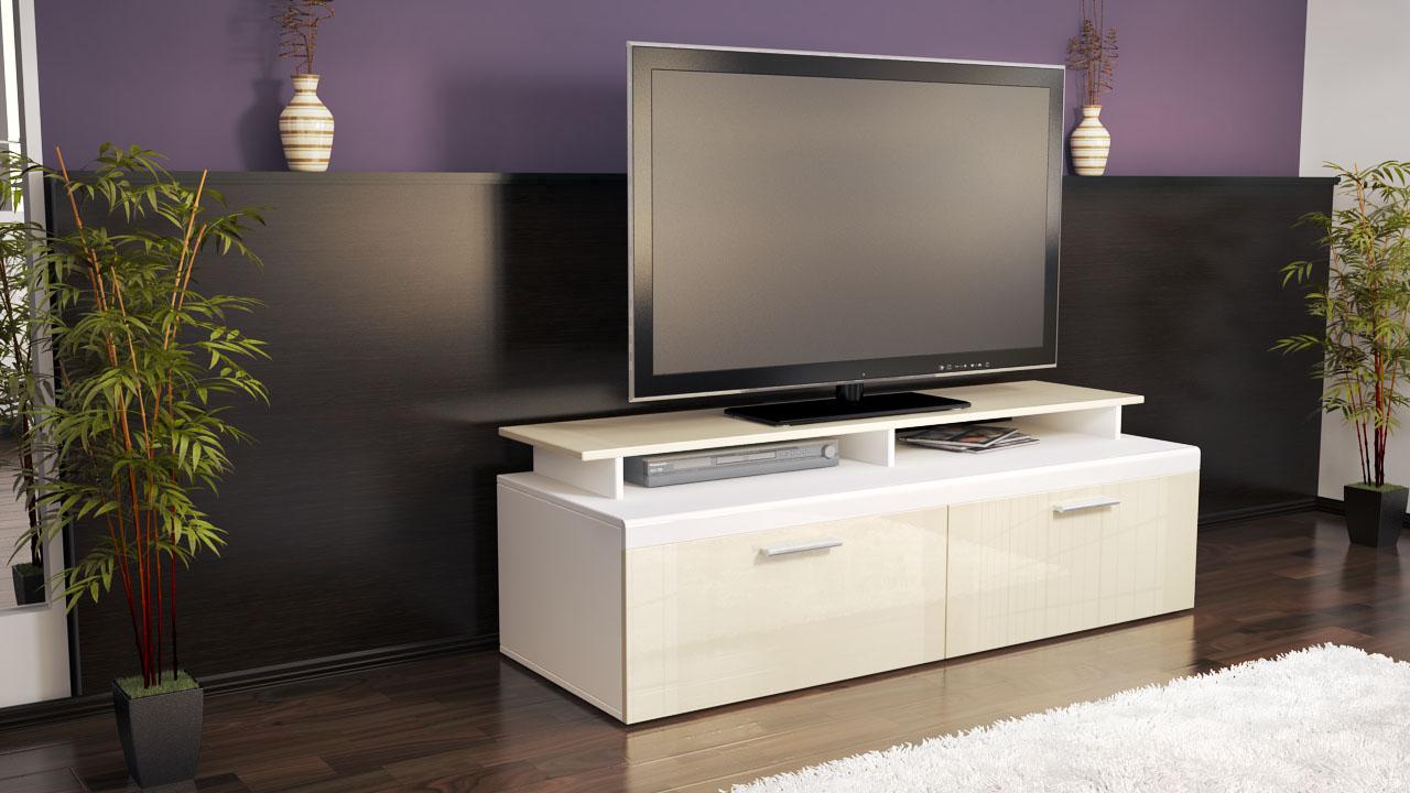 tv mobel weis hochglanz hangend