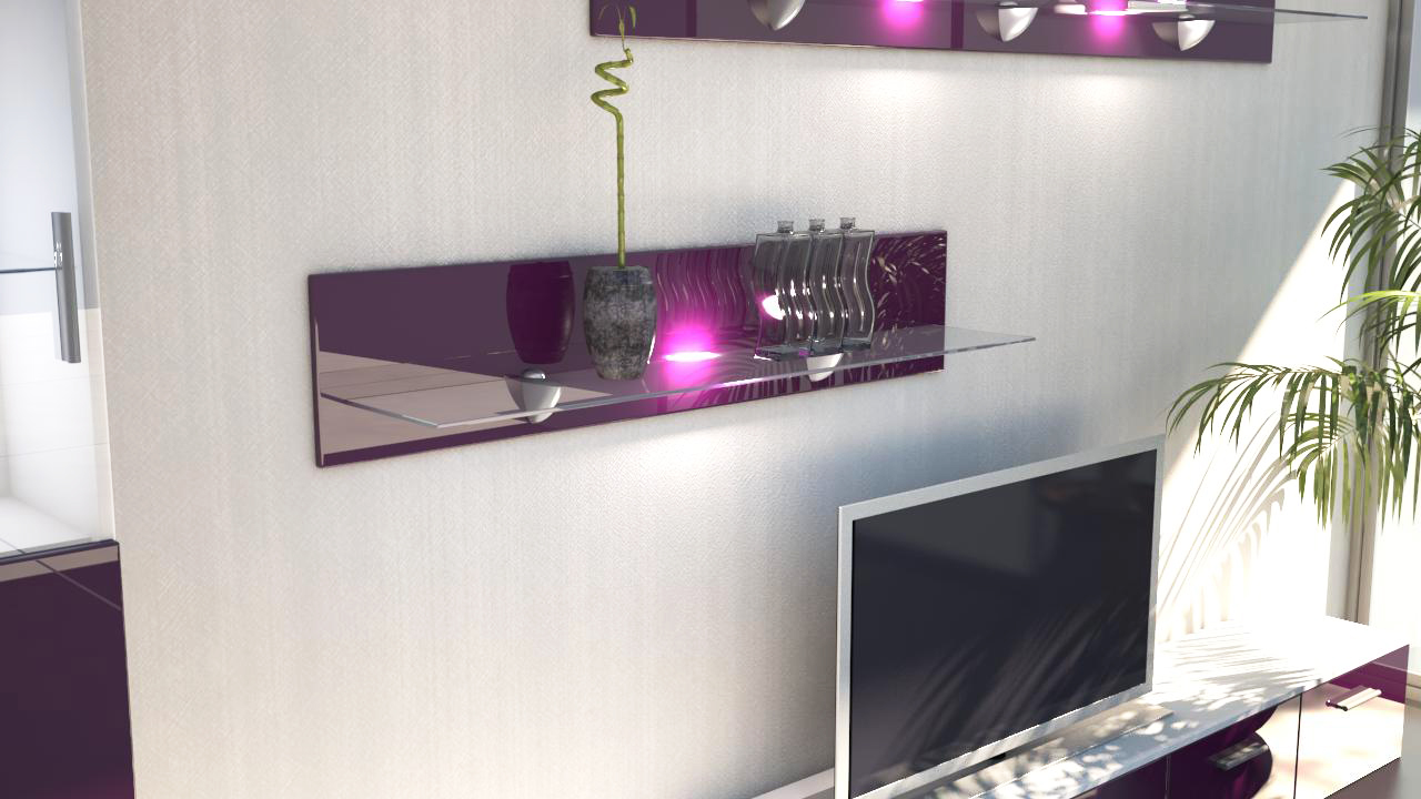 wandpaneel h ngeregal wandboard wandregal regal bari 14 hochglanz naturfarben ebay. Black Bedroom Furniture Sets. Home Design Ideas