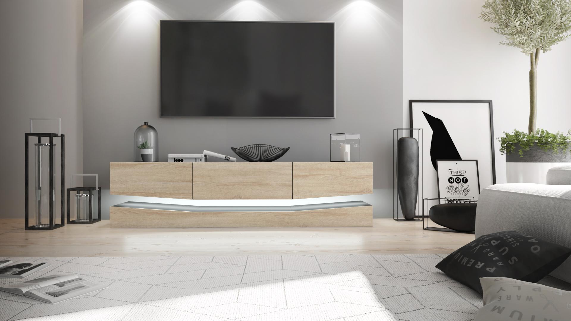 tv lowboard board schrank tisch m bel city schwarz. Black Bedroom Furniture Sets. Home Design Ideas