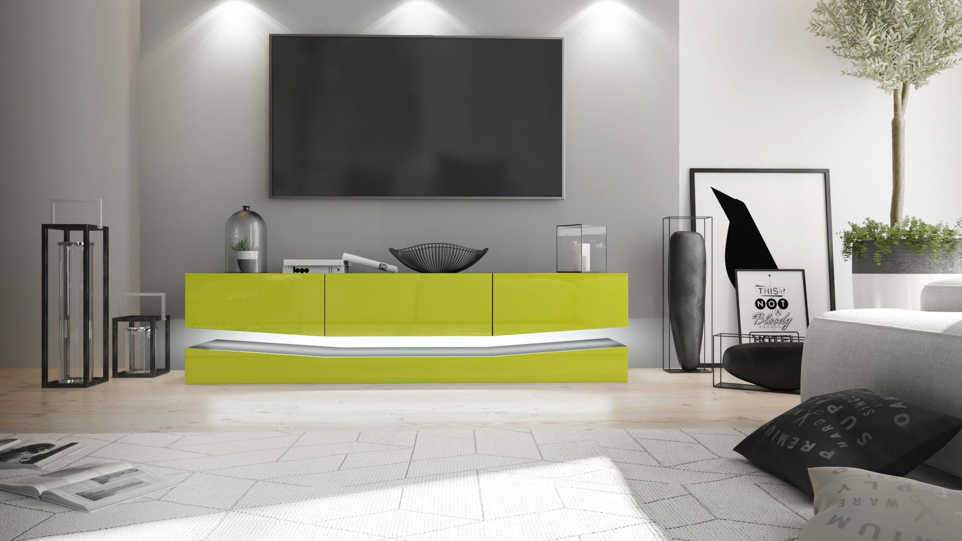 tv lowboard board schrank tisch m bel city schwarz hochglanz naturt ne ebay. Black Bedroom Furniture Sets. Home Design Ideas