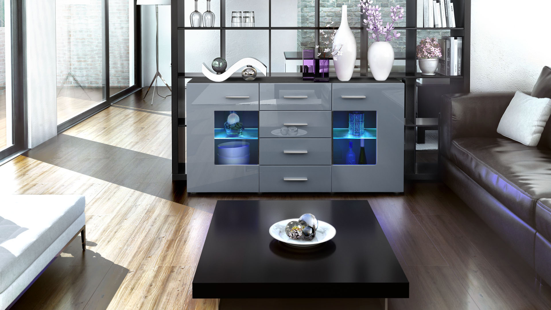 sideboard chest of drawers cabinet gr mitz black high. Black Bedroom Furniture Sets. Home Design Ideas