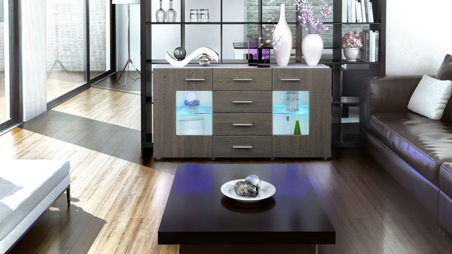 sideboard tv board anrichte kommode gr mitz in wei. Black Bedroom Furniture Sets. Home Design Ideas