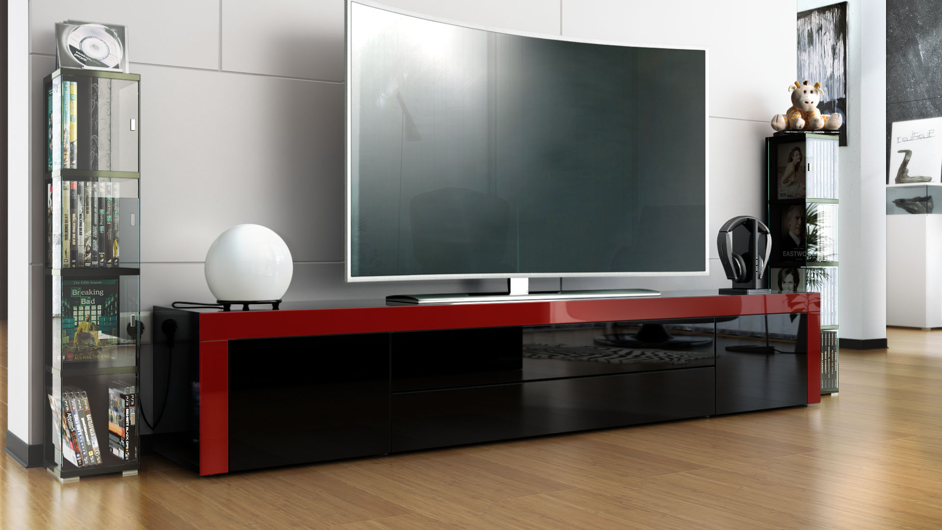 tv lowboard black inspirierendes design f r. Black Bedroom Furniture Sets. Home Design Ideas