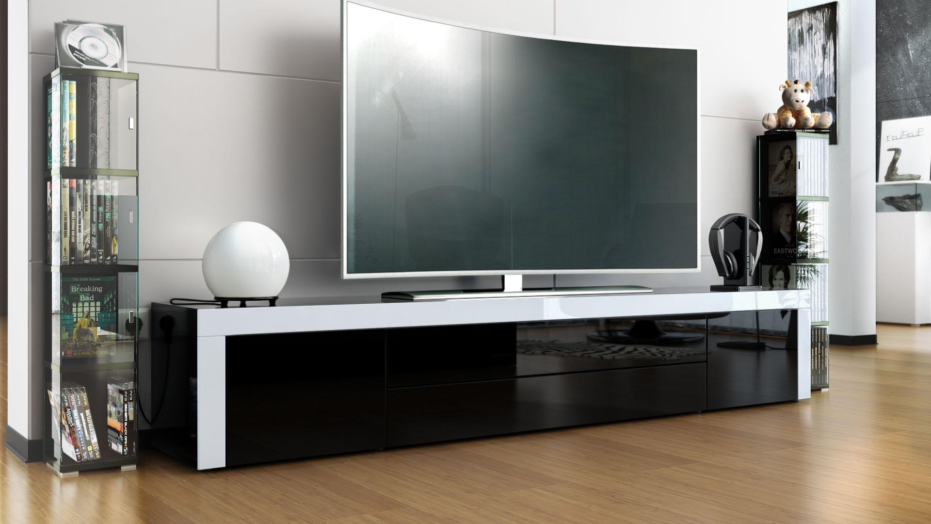 tv rack wei die neuesten innenarchitekturideen. Black Bedroom Furniture Sets. Home Design Ideas
