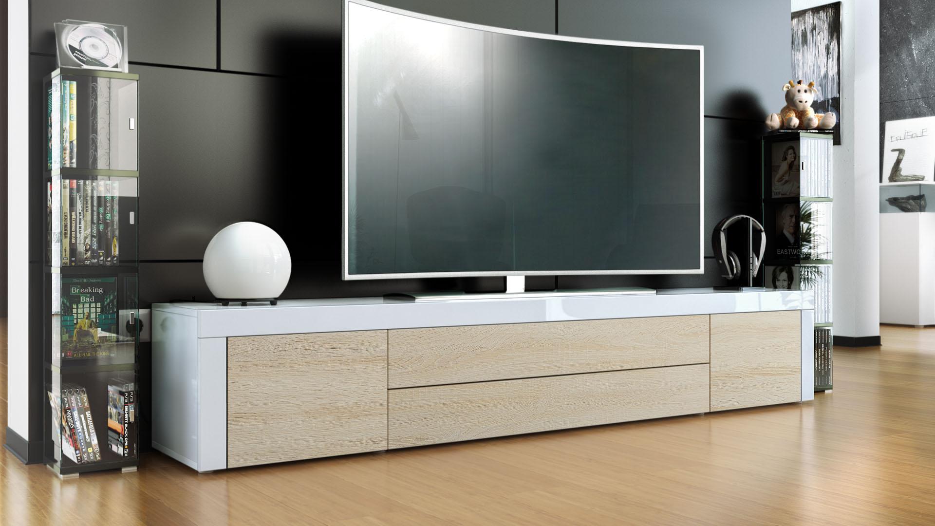 tv sideboard eiche inspirierendes design f r wohnm bel. Black Bedroom Furniture Sets. Home Design Ideas