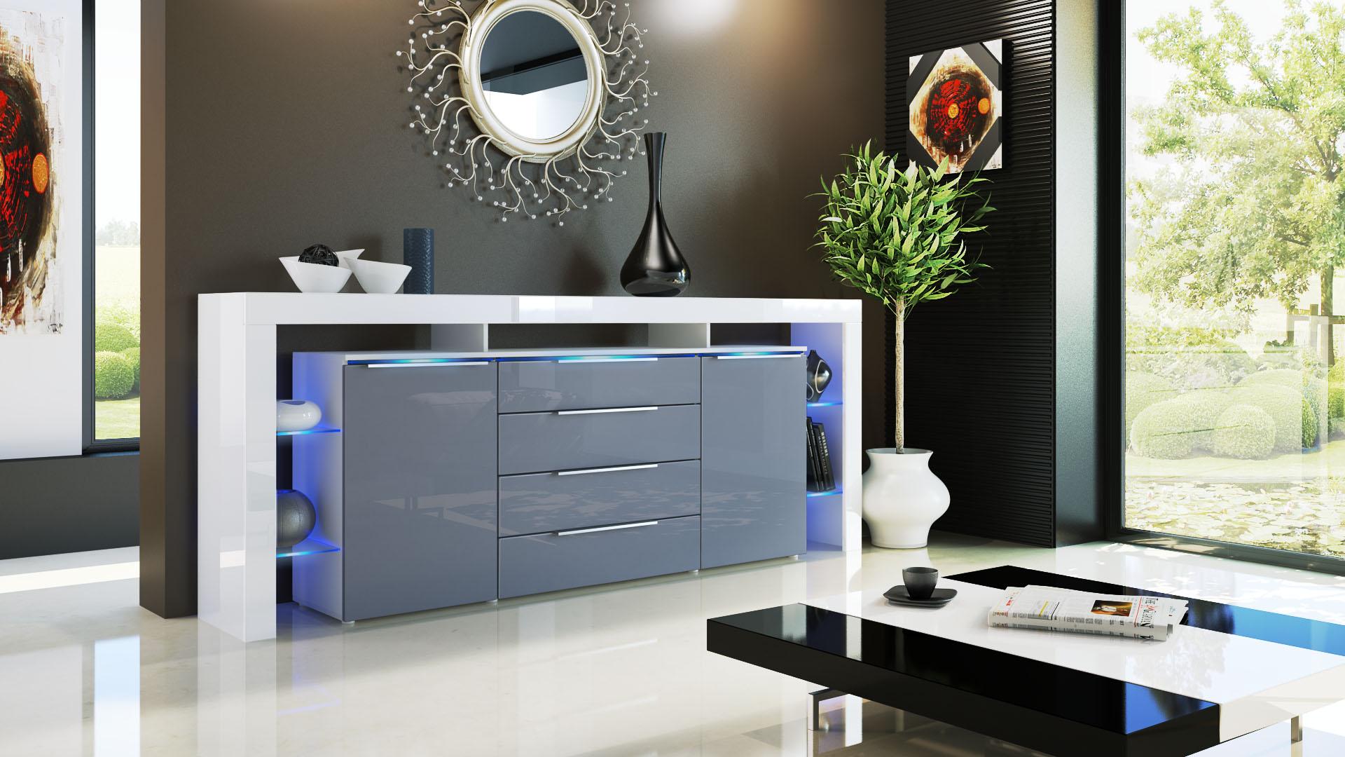 jersey kommode wei sideboard. Black Bedroom Furniture Sets. Home Design Ideas