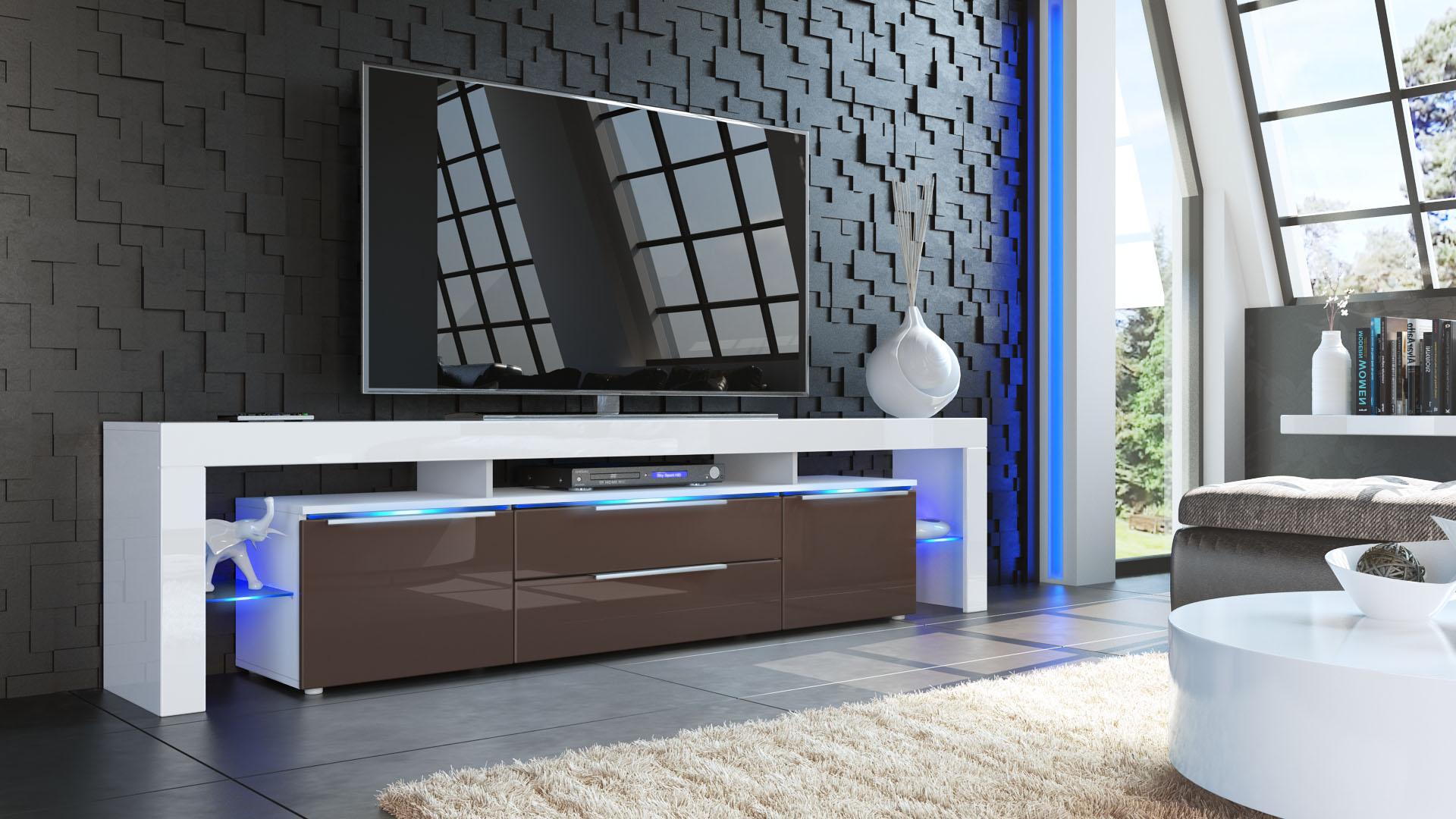 tv lowboard board schrank tisch m bel lima nova v2 wei hochglanz naturt ne ebay. Black Bedroom Furniture Sets. Home Design Ideas