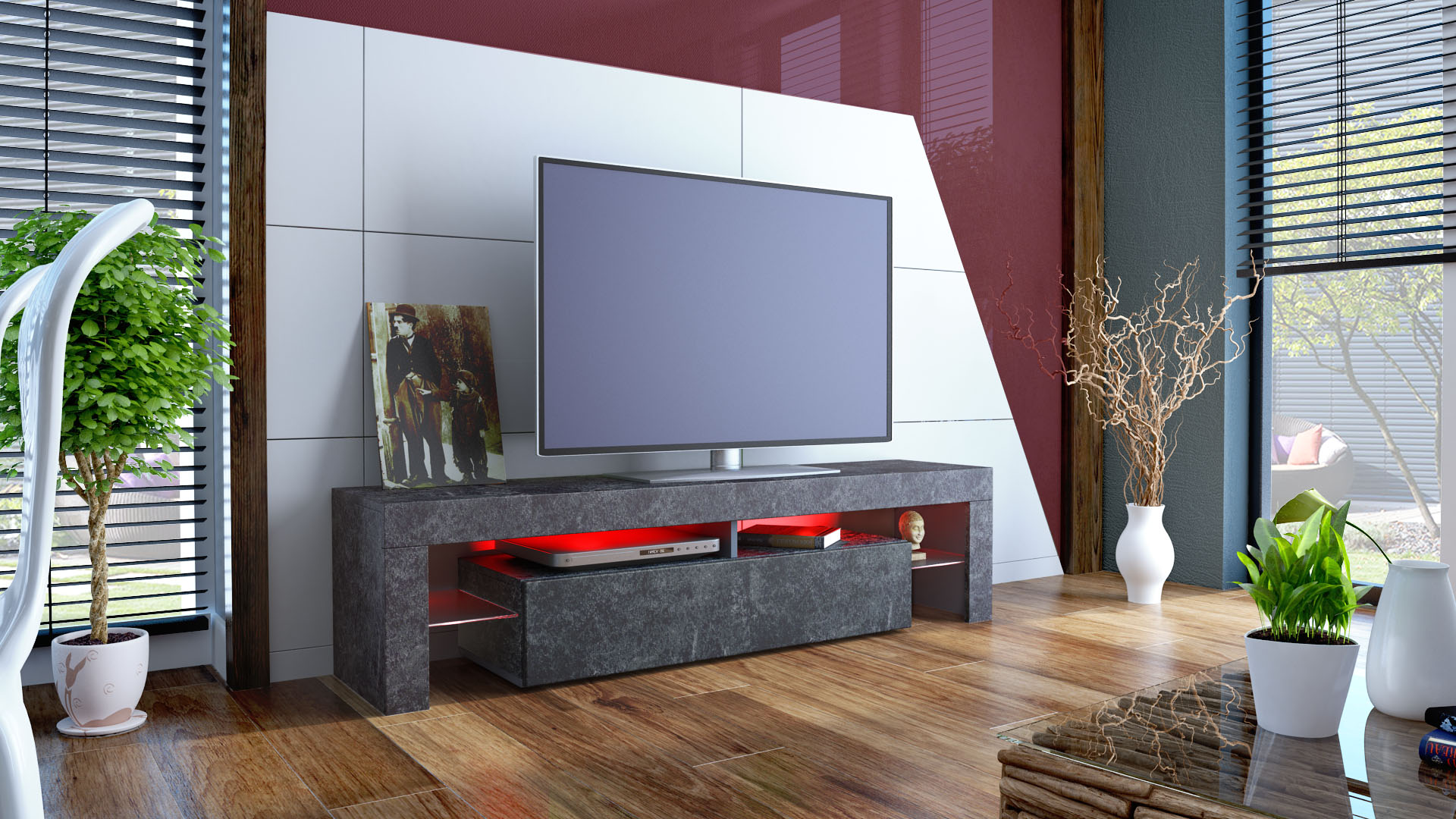 tv lowboard schiefer optik inspirierendes design f r wohnm bel. Black Bedroom Furniture Sets. Home Design Ideas