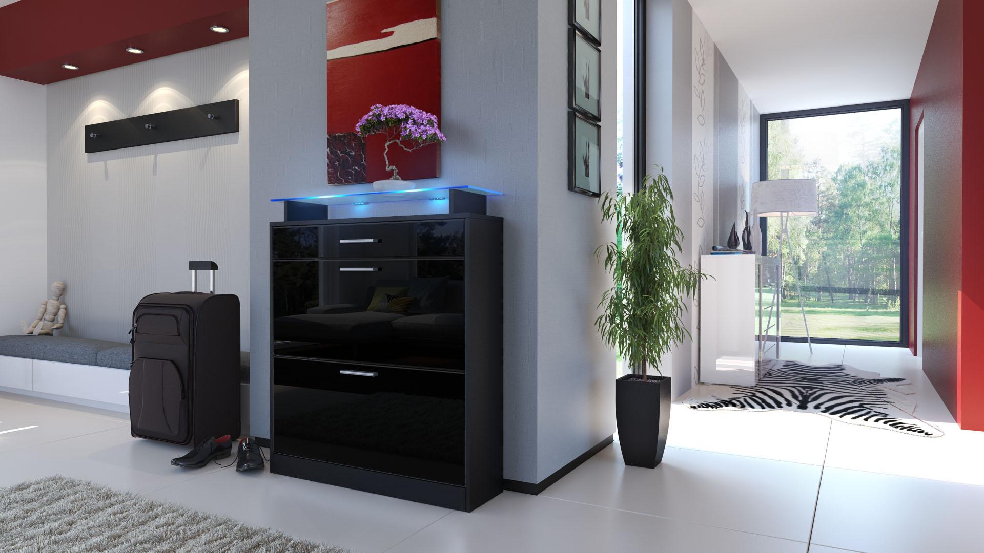 shoe storage rack cabinet organizer loret in black high. Black Bedroom Furniture Sets. Home Design Ideas