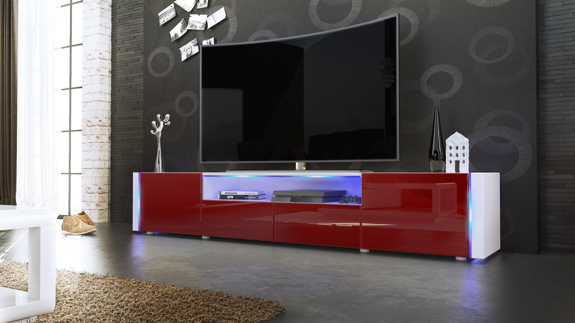 tv lowboard board schrank tisch m bel marino v2 in wei. Black Bedroom Furniture Sets. Home Design Ideas