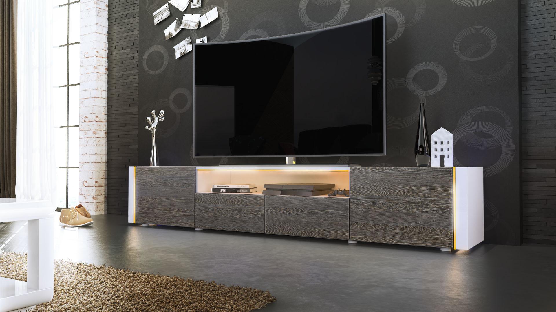 TV Lowboard Fernseh Board Schrank Tisch Möbel Rack Marino ...