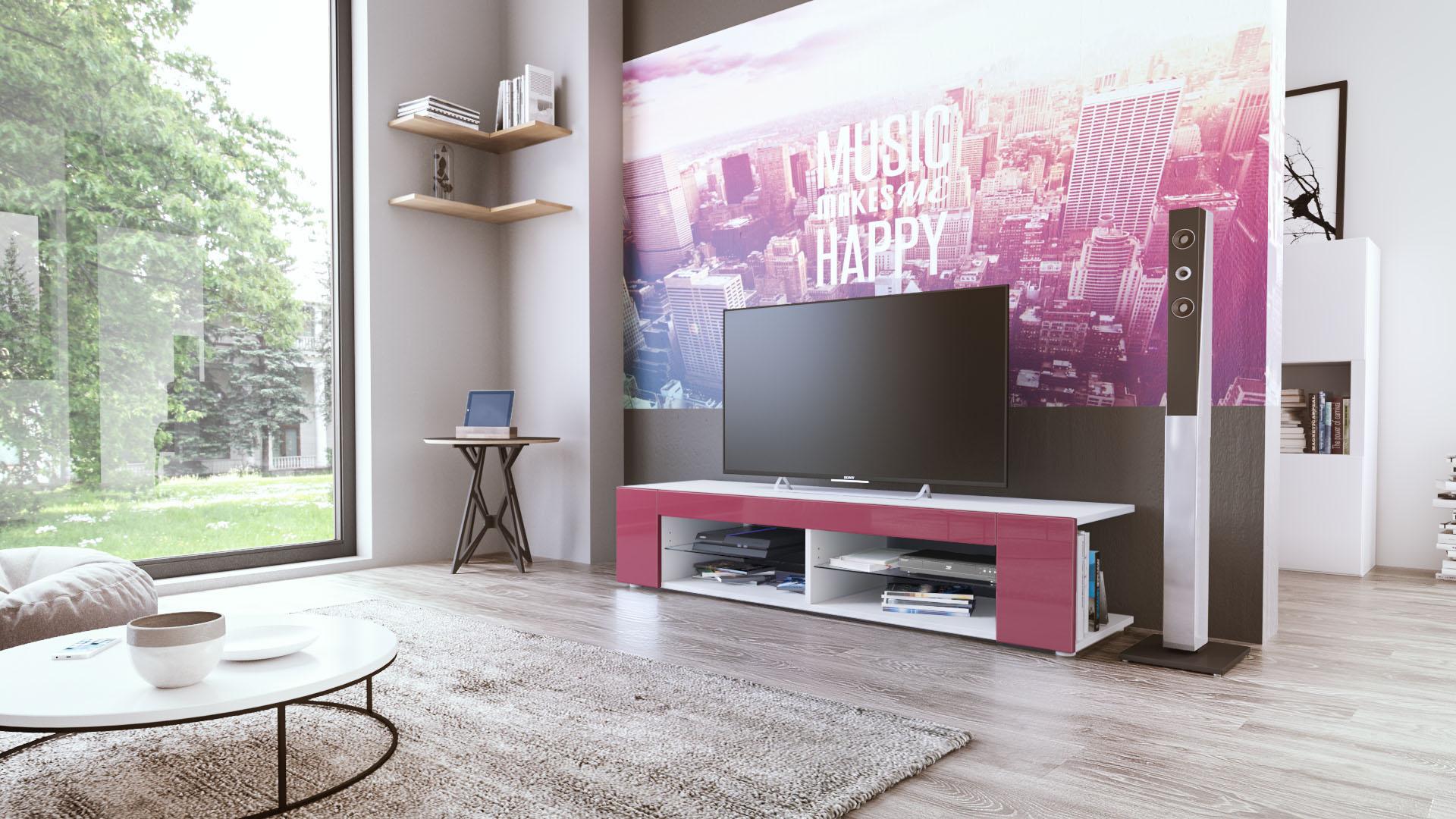 Fernsehschrank weiß matt  Fernsehschrank Weiß Matt: Wohnzimmerschrank gladiatore mdf eiche ...