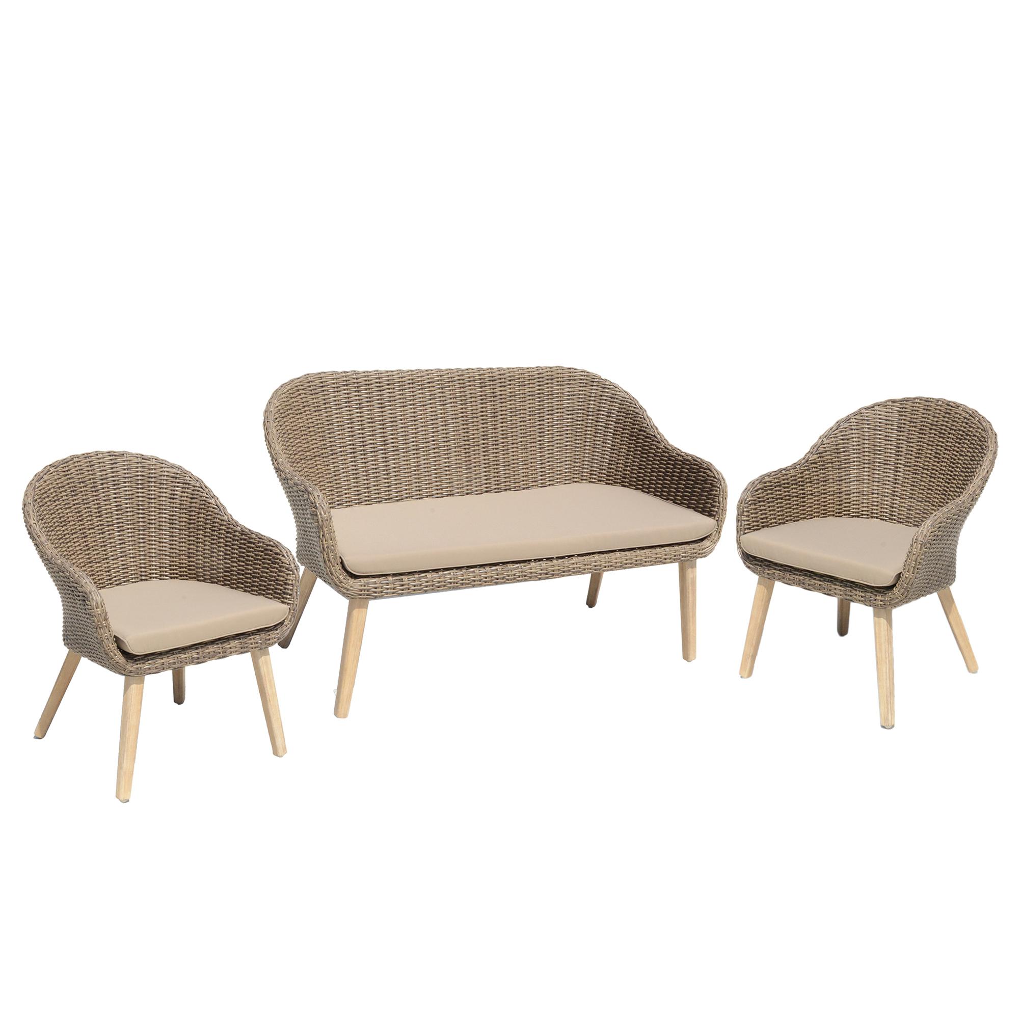 Gartenm Bel Set 4 Teilig Lounge Set Polyrattan Gartenset Sitzgruppe Garnitur Set