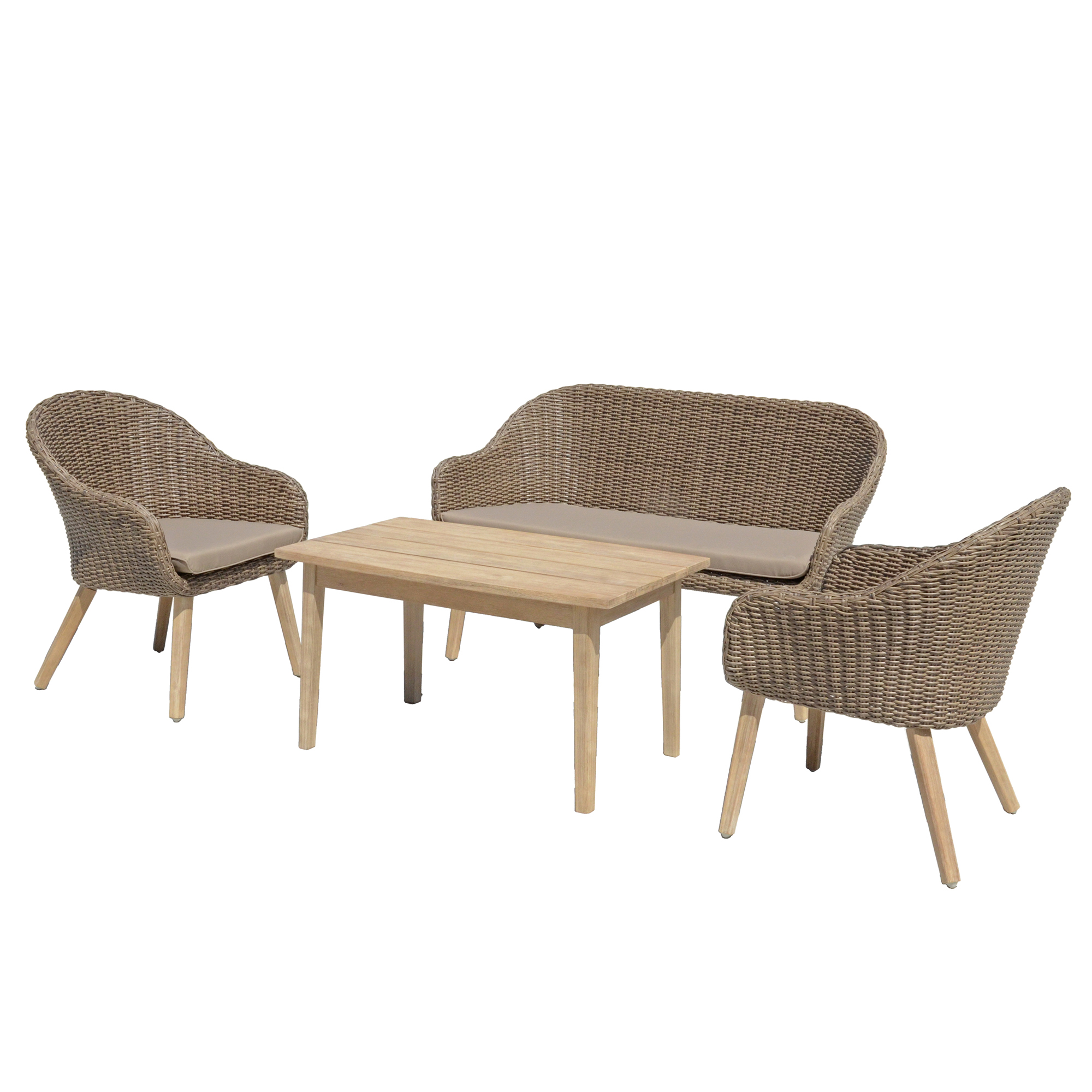 gartenm bel set 4 teilig lounge set polyrattan gartenset sitzgruppe garnitur set. Black Bedroom Furniture Sets. Home Design Ideas