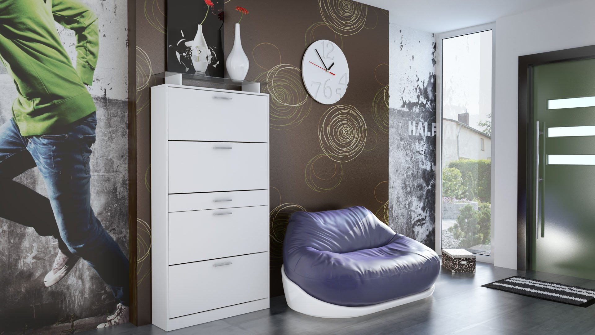 abverkauf schuhschrank schuhkipper schuh regal flur rima hochglanz matt ebay. Black Bedroom Furniture Sets. Home Design Ideas