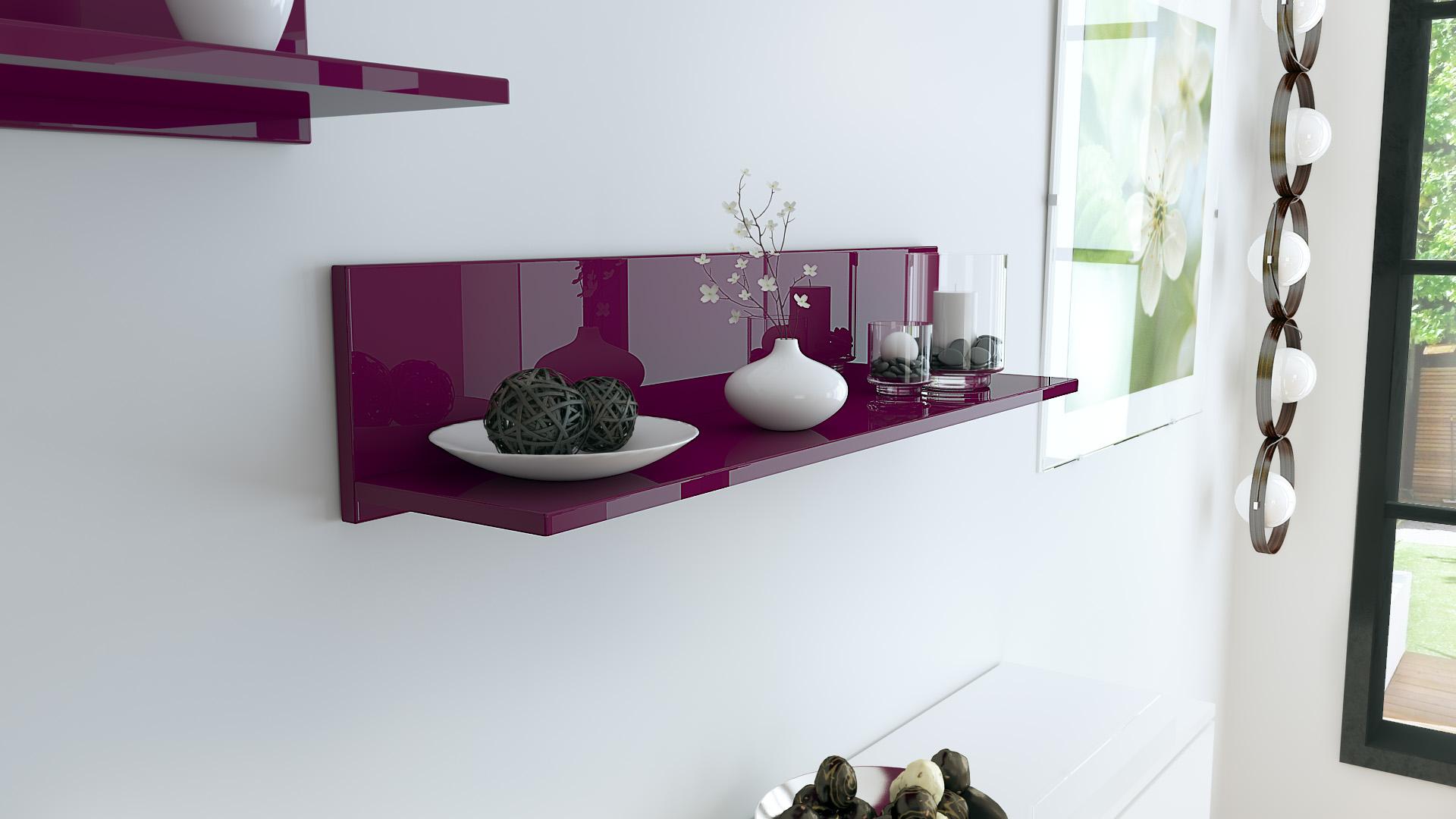 wandpaneel h ngeregal wandboard wandregal regal skadu in hochglanz und naturt ne ebay. Black Bedroom Furniture Sets. Home Design Ideas