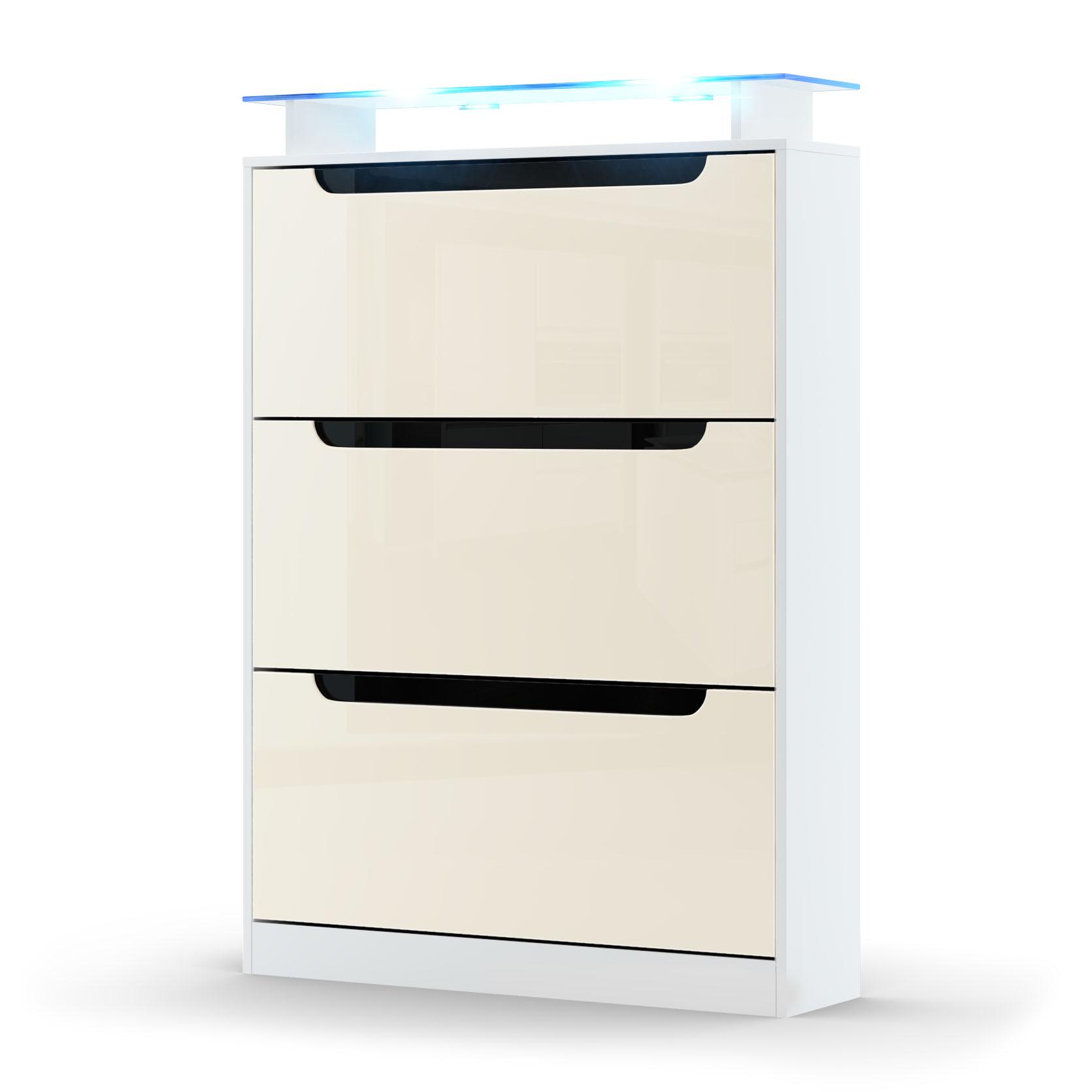 schuhschrank schuhkipper diele flur space in wei. Black Bedroom Furniture Sets. Home Design Ideas