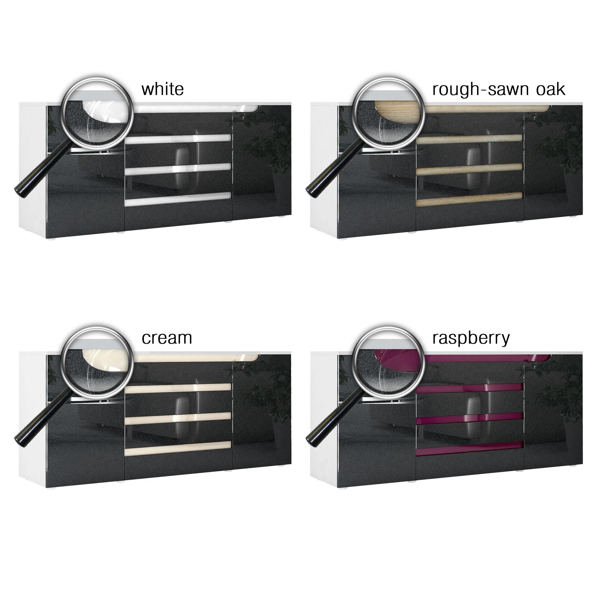 sideboard chest of drawers cabinet sylt v2 white high. Black Bedroom Furniture Sets. Home Design Ideas