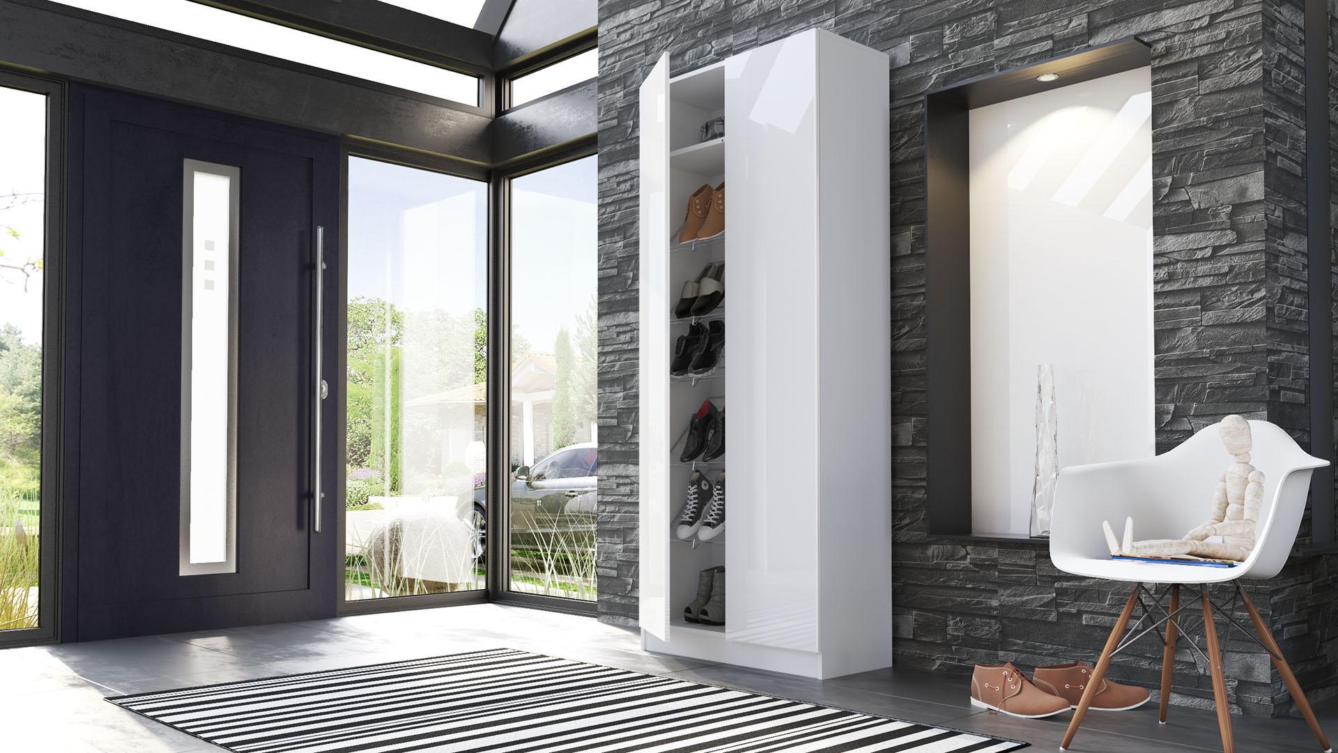 schuhschrank schuhregal diele flur schrank vaasa in wei. Black Bedroom Furniture Sets. Home Design Ideas