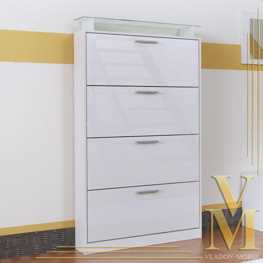 shoe cabinet quot rima v2 quot in white white high gloss ebay