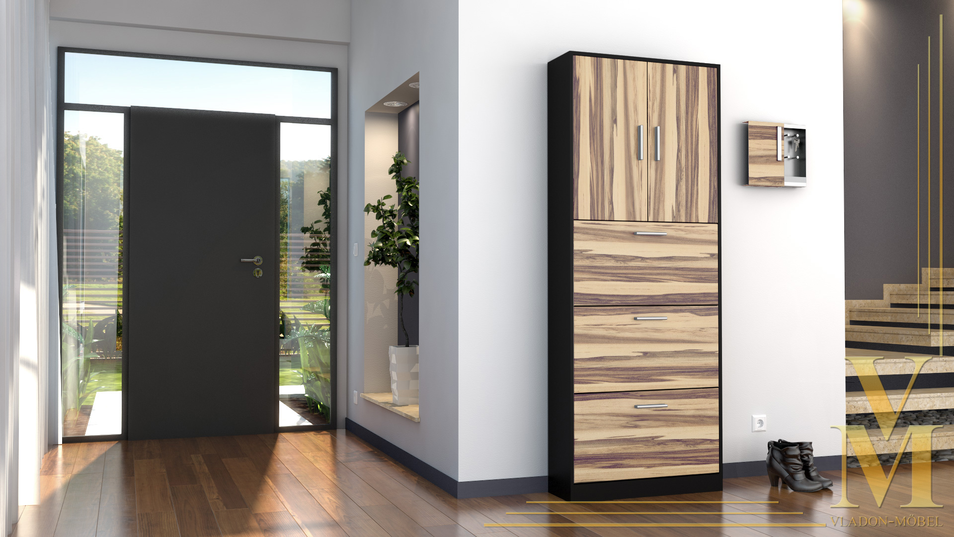 shoe storage rack cabinet organizer rista in black high. Black Bedroom Furniture Sets. Home Design Ideas