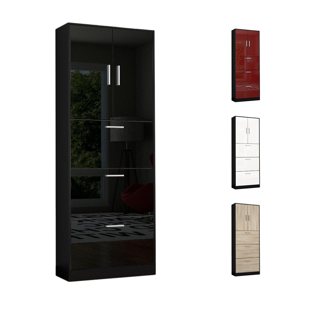 shoe storage rack cabinet organizer rista in black high