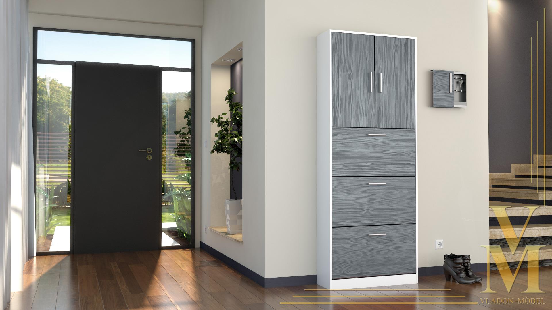 schuhschrank schuhkipper dielen flur schrank rista wei. Black Bedroom Furniture Sets. Home Design Ideas