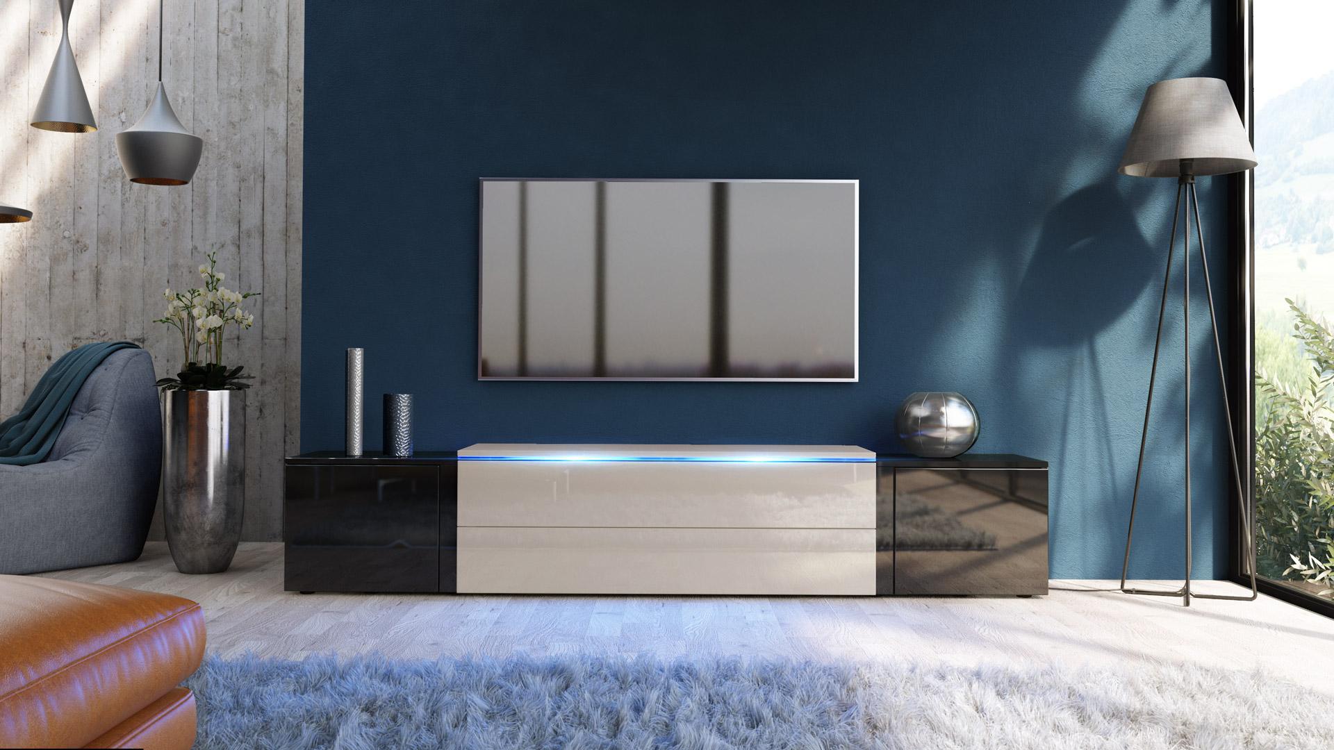tv board schwarz hochglanz vintage lowboard low board with tv board schwarz hochglanz free tv. Black Bedroom Furniture Sets. Home Design Ideas