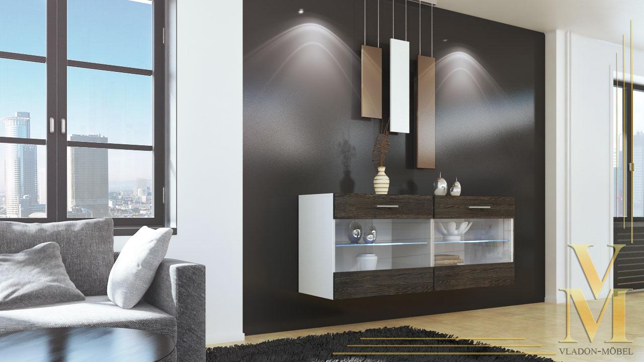 sideboard tv board anrichte kommode sandy v2 wei in hochglanz oder naturt nen ebay. Black Bedroom Furniture Sets. Home Design Ideas