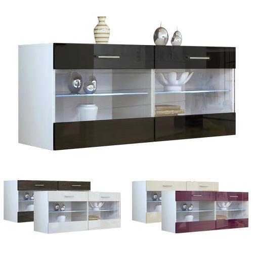 sideboard tv board display cabinet sandy v2 white high. Black Bedroom Furniture Sets. Home Design Ideas