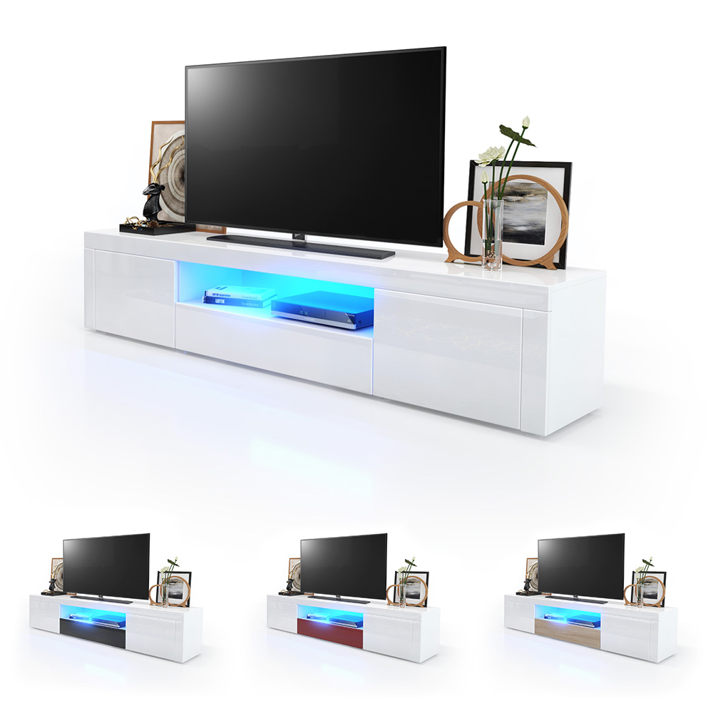 tv lowboard fernsehtisch board schrank 170cm kommode. Black Bedroom Furniture Sets. Home Design Ideas