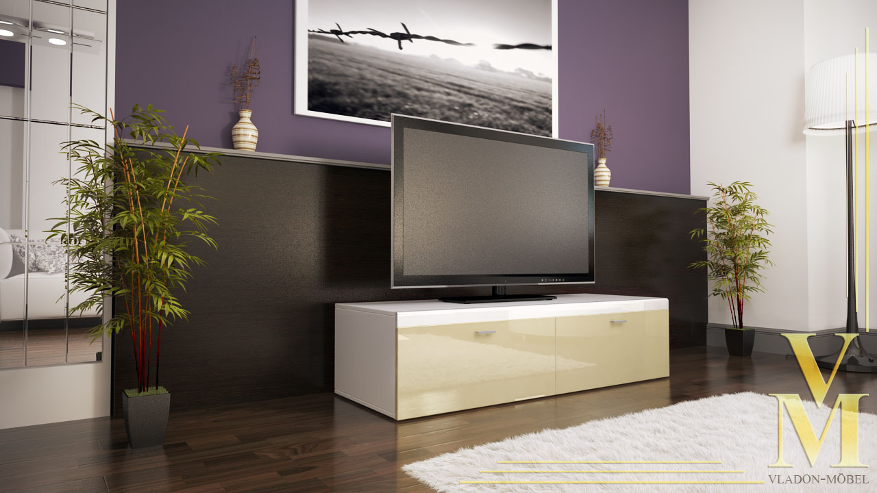 lowboard unterschrank tv board toronto in hochglanz ebay. Black Bedroom Furniture Sets. Home Design Ideas