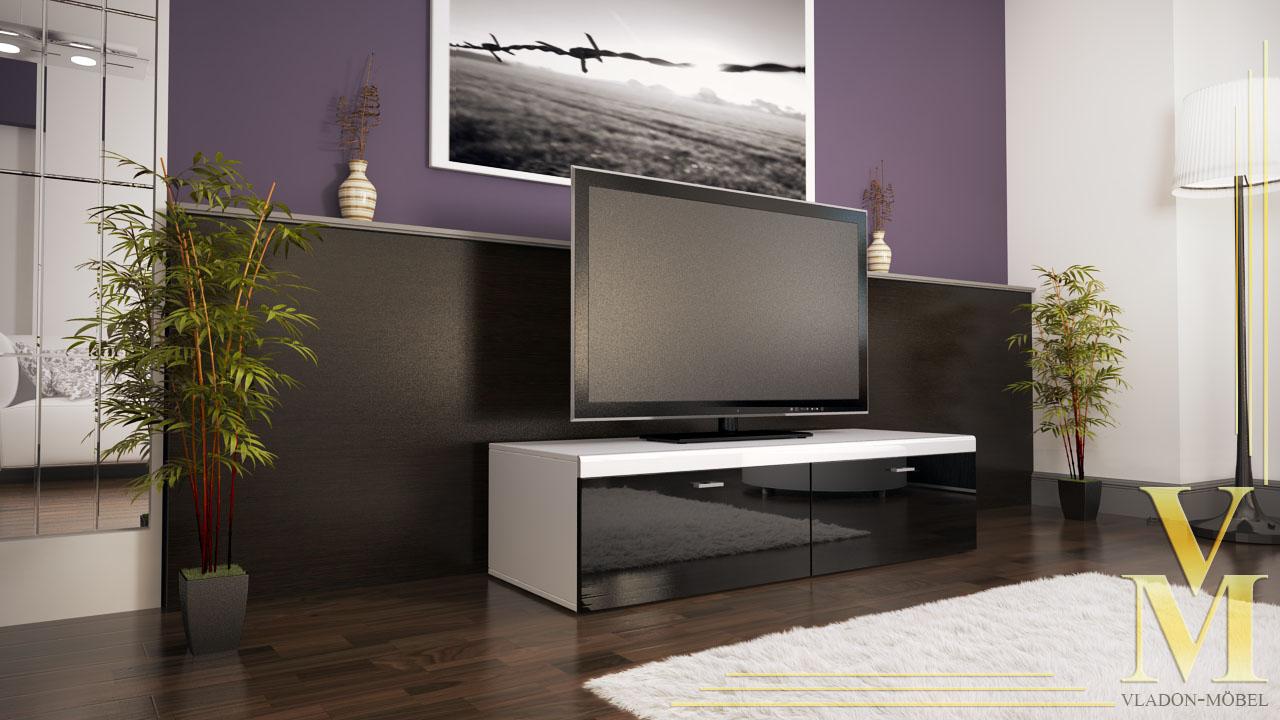 Lowboard unterschrank tv board toronto in hochglanz for Wohnwand toronto