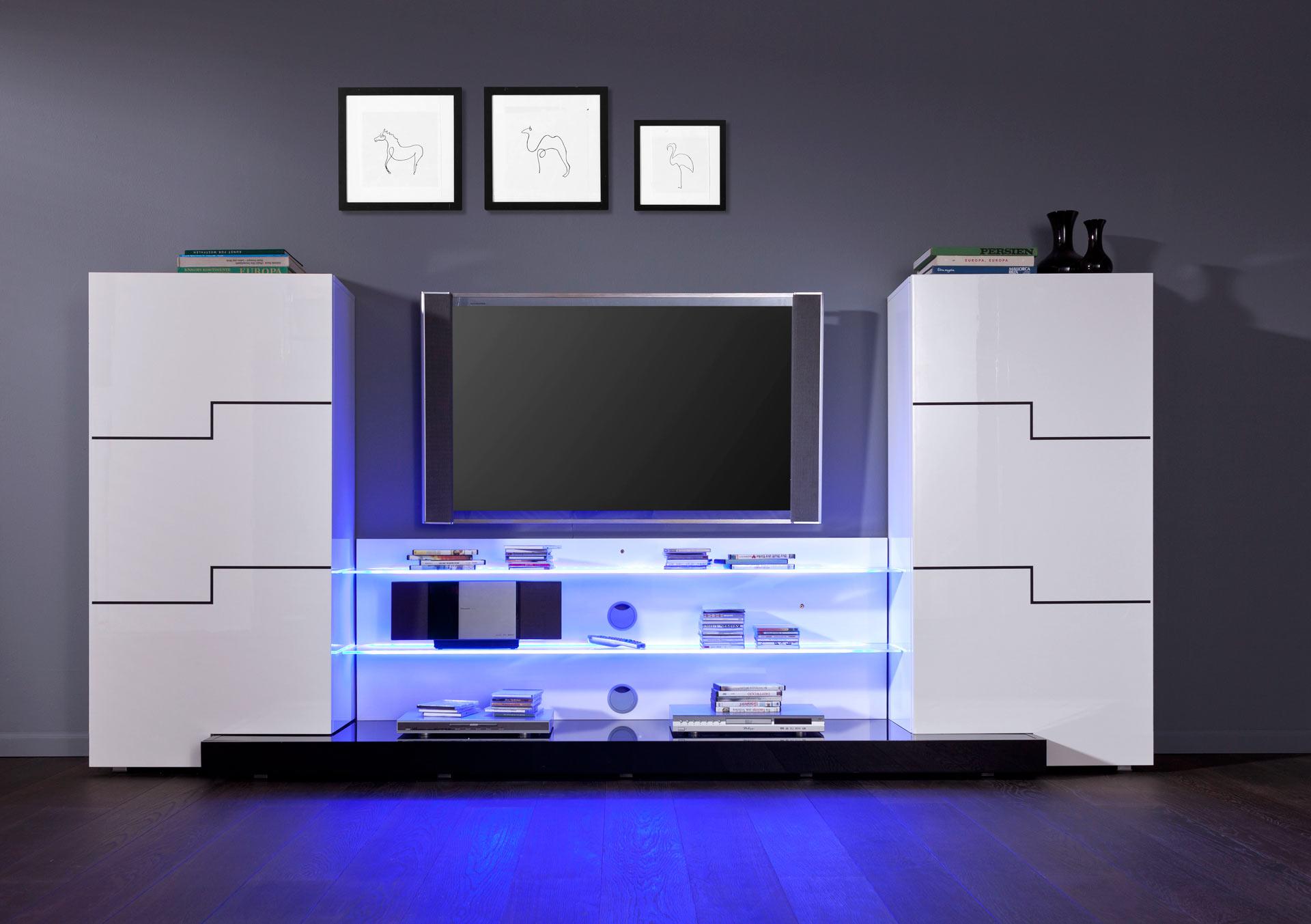 Roller wohnwand twin interessante ideen f r for Tv schrankwand design
