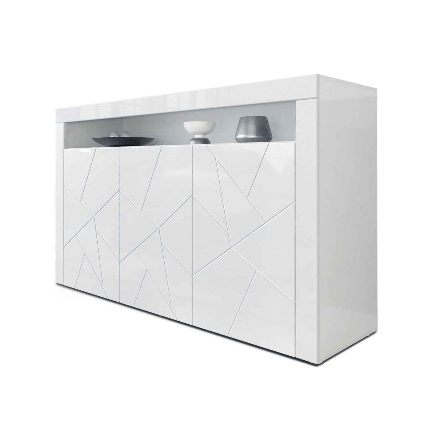 Sideboard TV Unit Stand Cabinet Chest Valencia in White ...