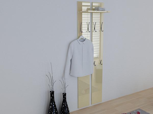 Wandpaneel garderoben paneel flur diehle in creme hg ebay for Flur garderoben paneele